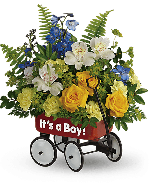 Teleflora's Sweet Little Wagon Bouquet
