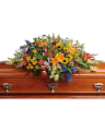 Colorful Reflections Casket Spray