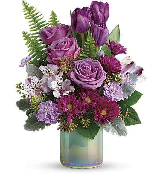Teleflora's Art Glass Garden Bouquet