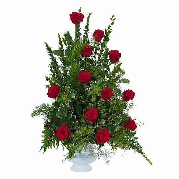 Royal Dozen Rose Urn