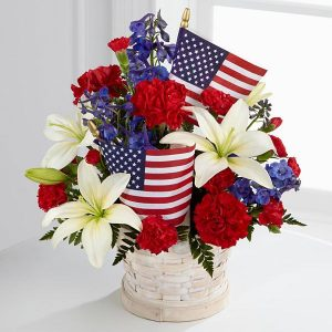 American Glory™ Bouquet - BASKET INCLUDED