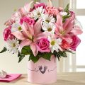 The FTD® Tiny Miracle™ New Baby Girl Bouquet - P