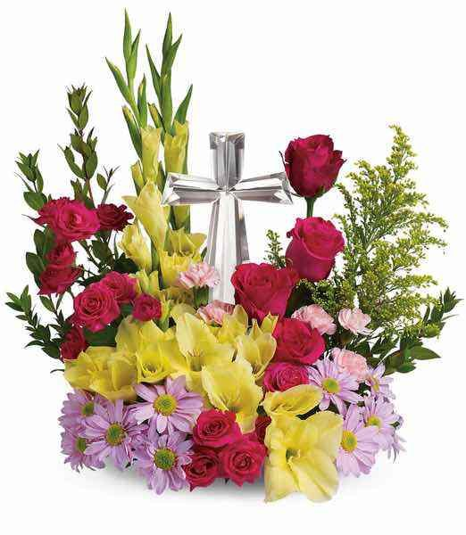 Teleflora's™ Crystal Cross Bouquet